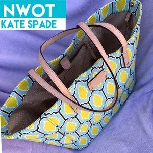Kate Spade Blue & Yellow Tote